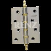 Петля стальная универсальная с колпачком RENZ 100-4BB CH. SN никель матовый