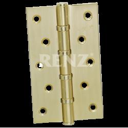 Петля стальная 125мм., универсальная, без колпачка RENZ 125-4BB FH. PB  латунь блестящая