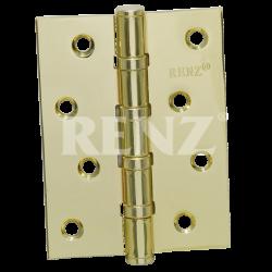 Петля стальная универсальная без колпачка RENZ 100-4BB FH. PB латунь блестящая