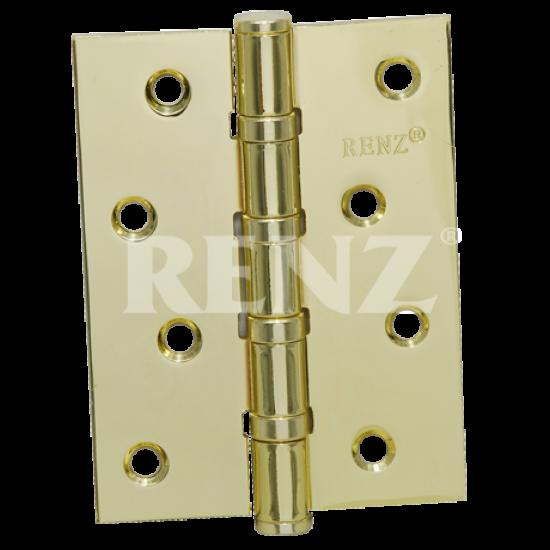 Петля стальная универсальная без колпачка RENZ 100-4BB FH. SB латунь матовая