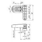Петля для профильных дверей FUARO NP-3D-90 PVC-WH (БЕЛАЯ, RAL-9016) до 90 кг