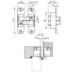 Петля скрытой установки с 3D-регулировкой ARMADILLO Architect 3D-ACH 60 SC Матовый хром прав. 60 кг