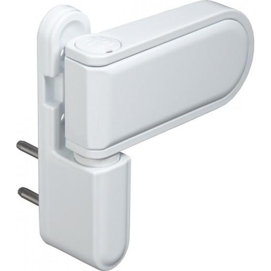 Петля для профильных дверей FUARO NP-3D-108 PVC-WH (БЕЛАЯ, RAL-9016) до 120 кг