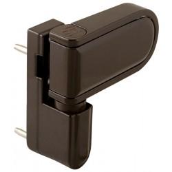 Петля для профильных дверей FUARO NP-3D-90 PVC-BR (КОРИЧНЕВАЯ, RAL-8019) до 90 кг