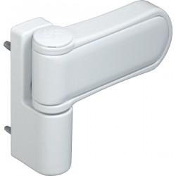 Петля для профильных дверей FUARO NP-3D-105 PVC-WH (БЕЛАЯ, RAL-9016) до 120 кг