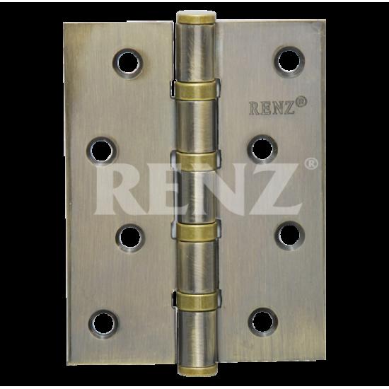 Петля стальная универсальная без колпачка RENZ 100-4BB FH. AB бронза античная