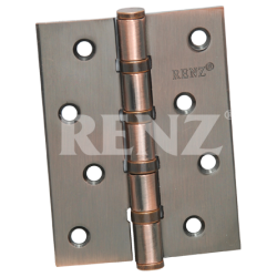 Петля стальная универсальная без колпачка RENZ 100-4BB FH. AC медь античная