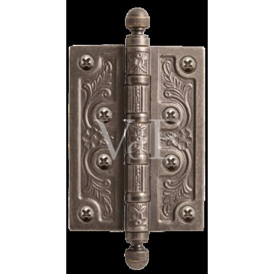 Петля латунная VAL DE FIORI 102 мм.VDF 102-4BB CH. AI серебро античное