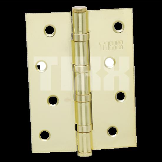 Петля стальная эконом-вариант TIXX 100x75x2 FH PB латунь блестящая