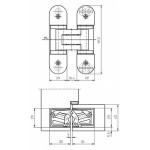 Петля скрытой установки универсальная TECTUS TE 303 3D Messing-Effekt (мат. латунь), 60 кг