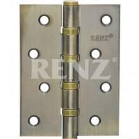 Петля стальная 125 мм., универсальная, без колпачка RENZ 125-4BB FH. AB бронза античная