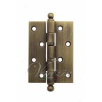 Дверная петля универсальная латунная с круглым колпачком Venezia CRS010 102x76x3 матовая бронза